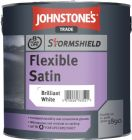 Johnstone's Stormshield Flexible Satin Brilliant White 2.5 Litres